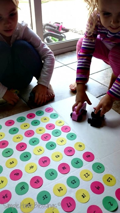 stop the speeding car game for preschoolers