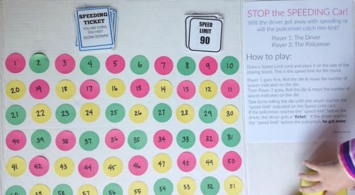 stop the speeding car preschool game