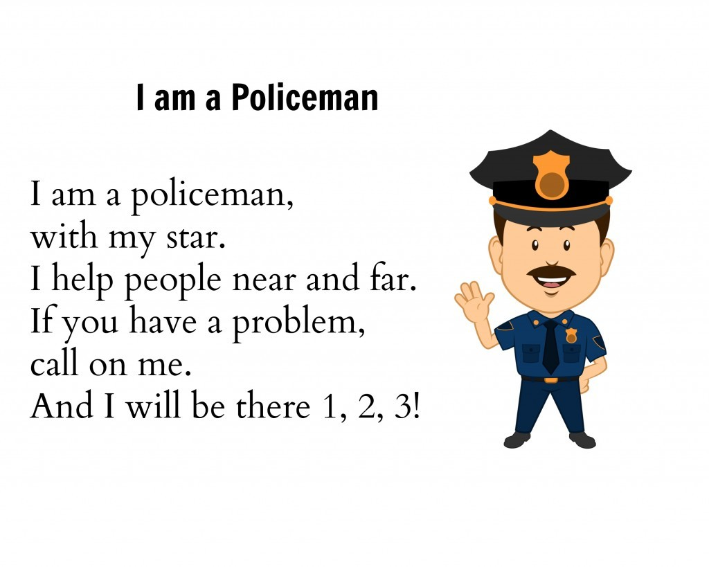 I am a Police Man song for preschool unit
