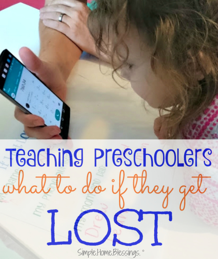 teaching preschoolers what to do if they get lost - 3 answers preschoolers must know
