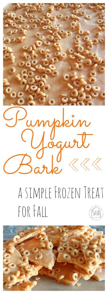 Pumpkin Yogurt Bark - a perfect fall treat from the freezer