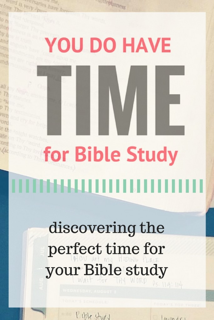 discovering the perfect time for your Bible study - good encouragement here!