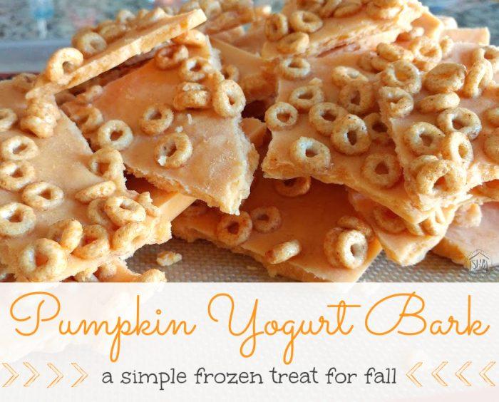 pumpkin yogurt bark, a frozen treat for fall!