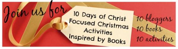 Simple Christmas Garland for kids, part of 10 Days of Christ Focused Christmas Activities Inspired by Books