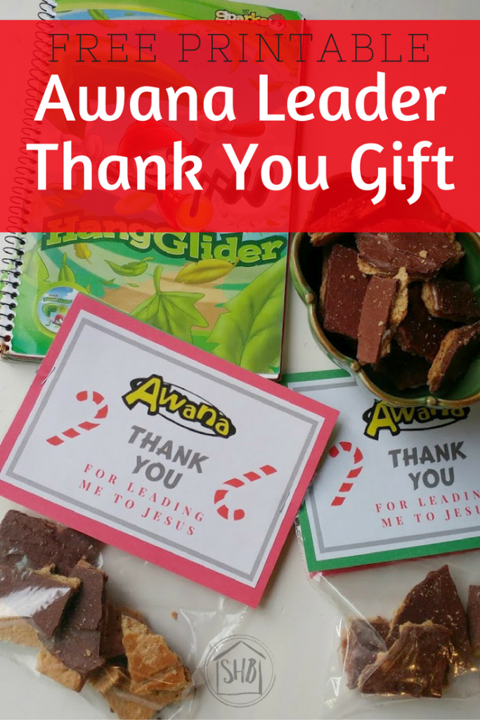 Thank your kid's Awana leader with this simple thank you gift - includes a free printable!