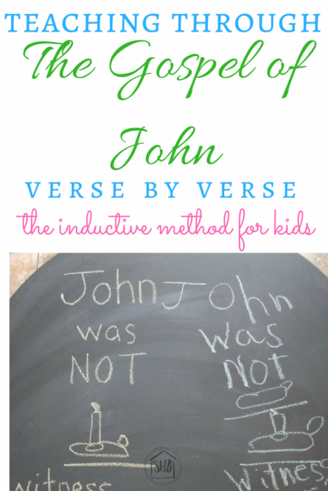 Inductive Study for Kids - a simple study of John 1:8