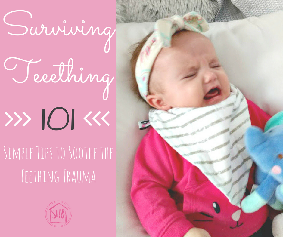 Surviving Teeething - simple teething tips from a mom of 4
