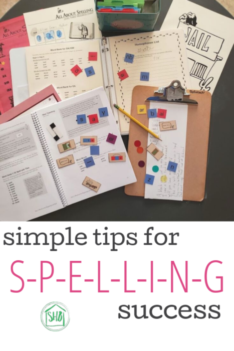 simple tips for teaching spelling in early elementary years using All About Spelling curriculum