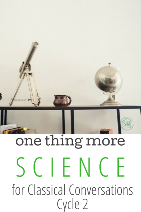 a list of simple matchups for Classical Conversations Cycle 2 Science - perfect for repeat cycles