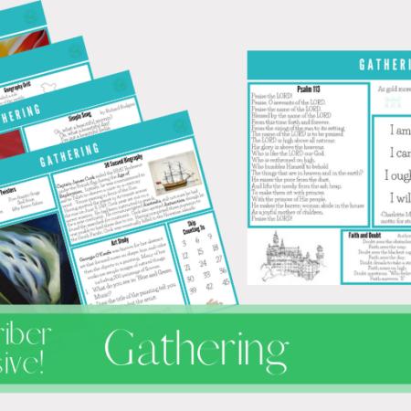 FREE Gathering Placemats Set