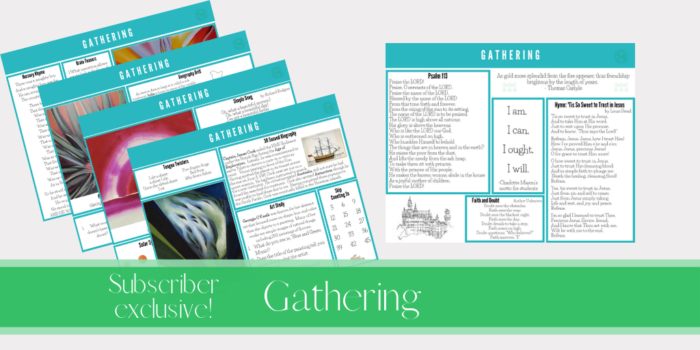 Gathering placemats are  the tool that got our morning time routine on track.  They have enriched our time together in such amazing ways.