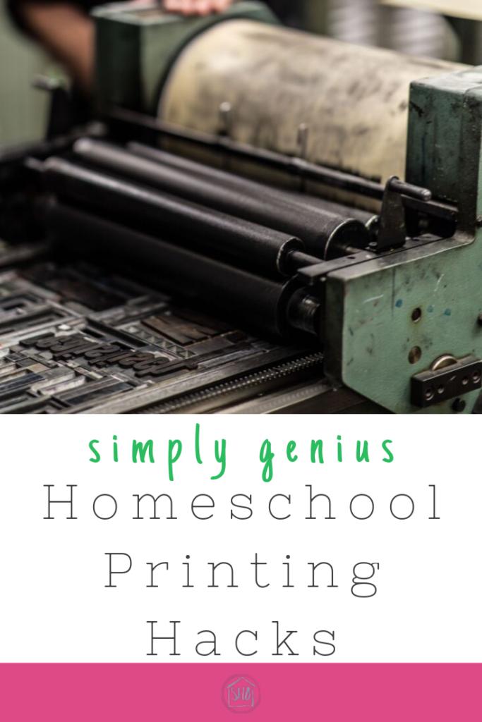 Homeschool printing hacks that are simply genius!