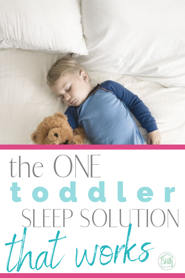 toddler sleep solution - this trick works! And it is so simple, I don't know why I didn't think of it!