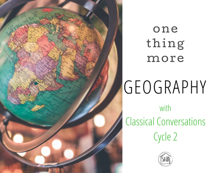 a simple list of resources and activities to supplement Classical Conversations Cycle 2 Geography.  Recommended for students going through the cycle for the second time.