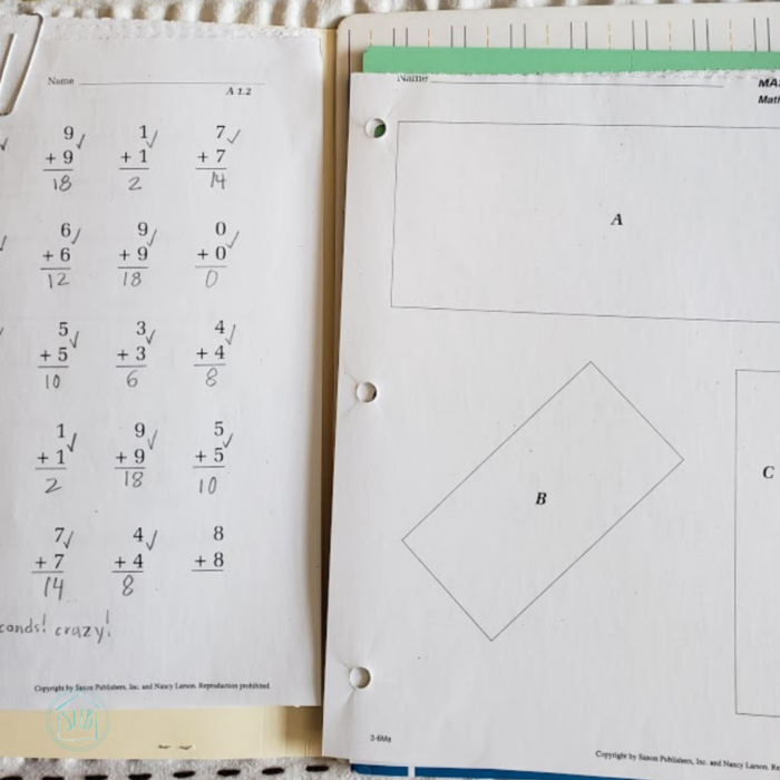 Make planning for Saxon math simple with these four steps for planning twice a month.