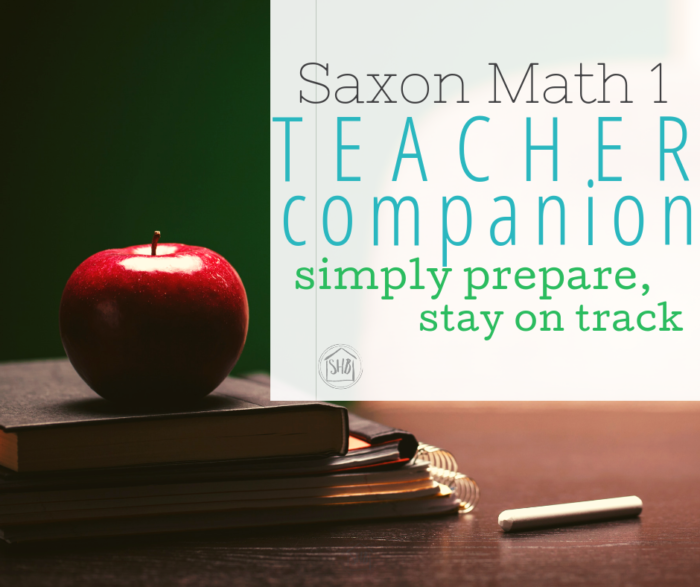 """Save precious prep time and stay on track with Saxon math 1 with this teacher companion.  All """"the night before"""" items are here."""