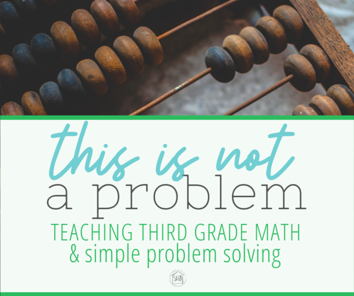 The Problem of the day - teaching math problems to third grade