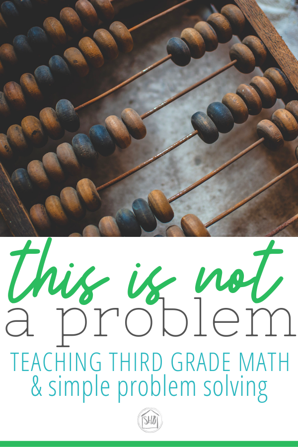 Dealing with real life teaching problems, teaching math problems in third grade.