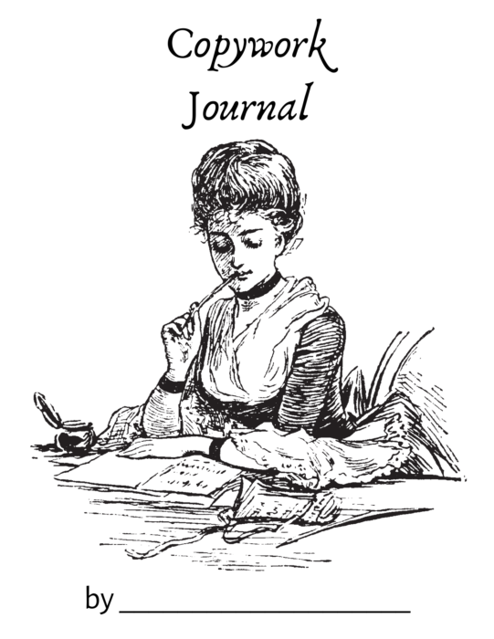 a copywork journal cover for you