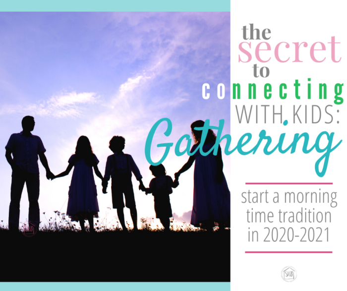 finally share a morning time tradition with your kids, the Gathering Placemats for 2020-2021