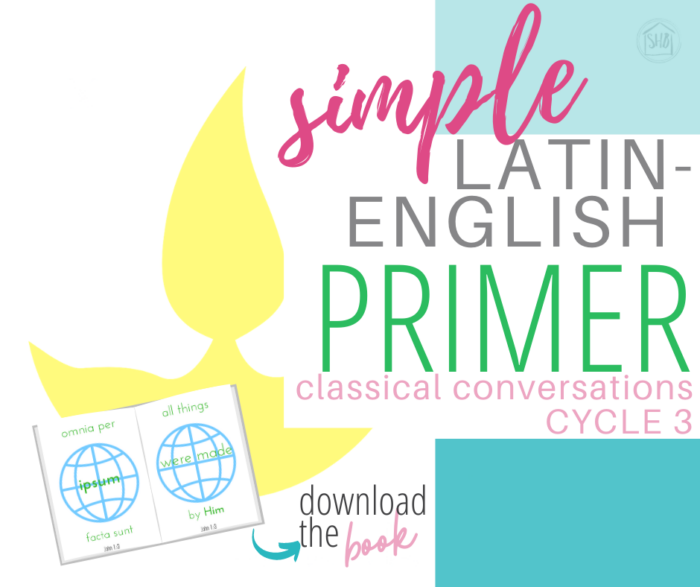 a simple Latin-English primer for CC Cycle 3 memorization of John 1:1-7, perfect for early readers and elementary students