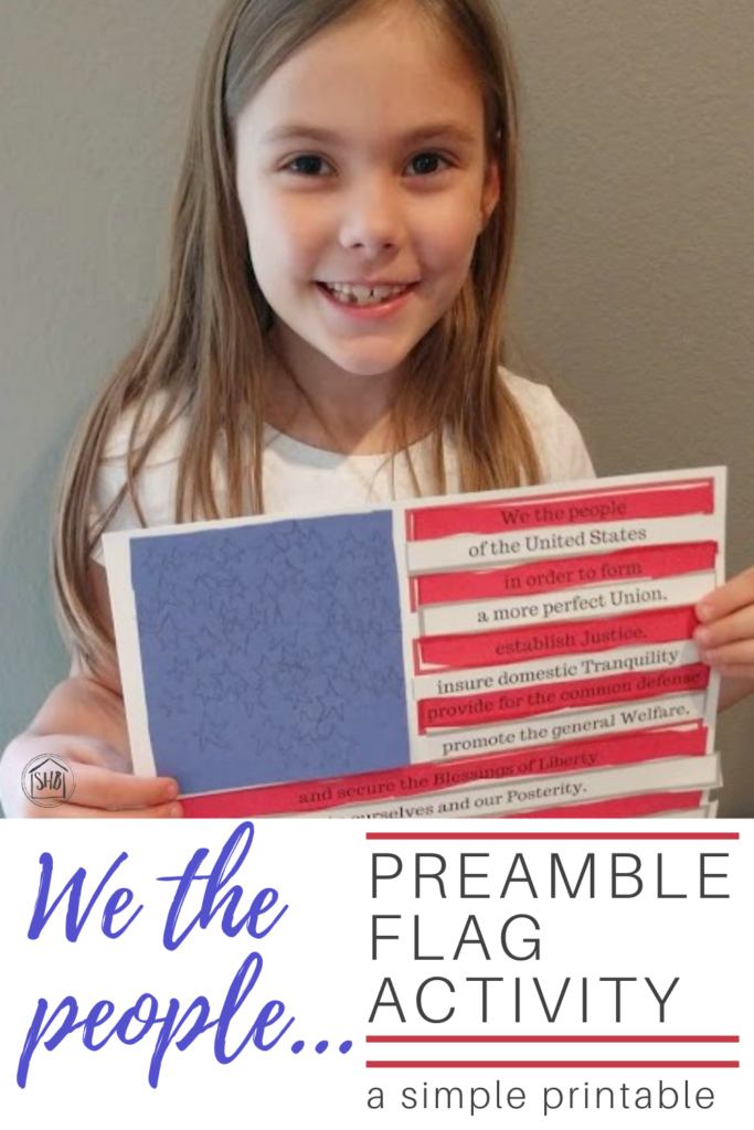 U.S. Constitution preamble flag activity, promote memorization and patriotism with this simple activity for elementary students