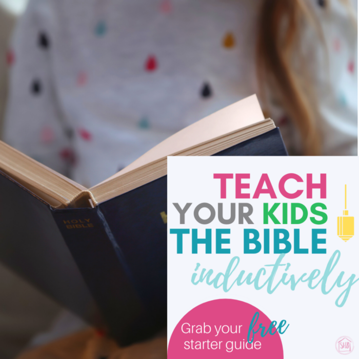 a starter's guide for teaching kids to study the bible with the inductive method