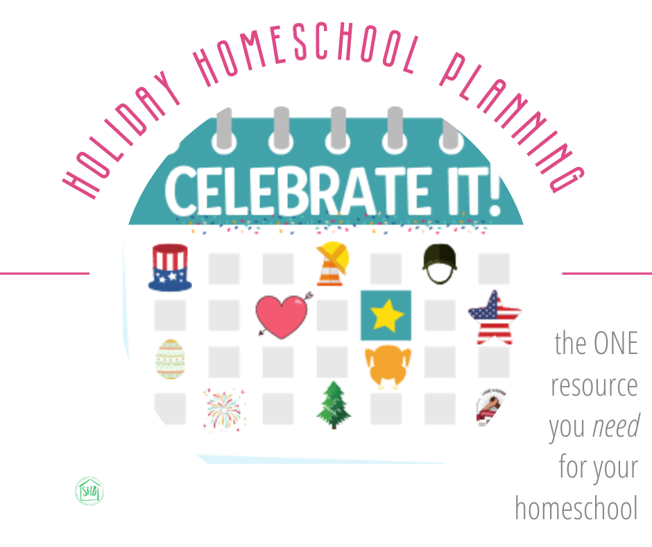 Celebrate It!  Grab Bag - Homeschool resources for all the holidays this year.  Grab all the resources you need for the whole year in one place.