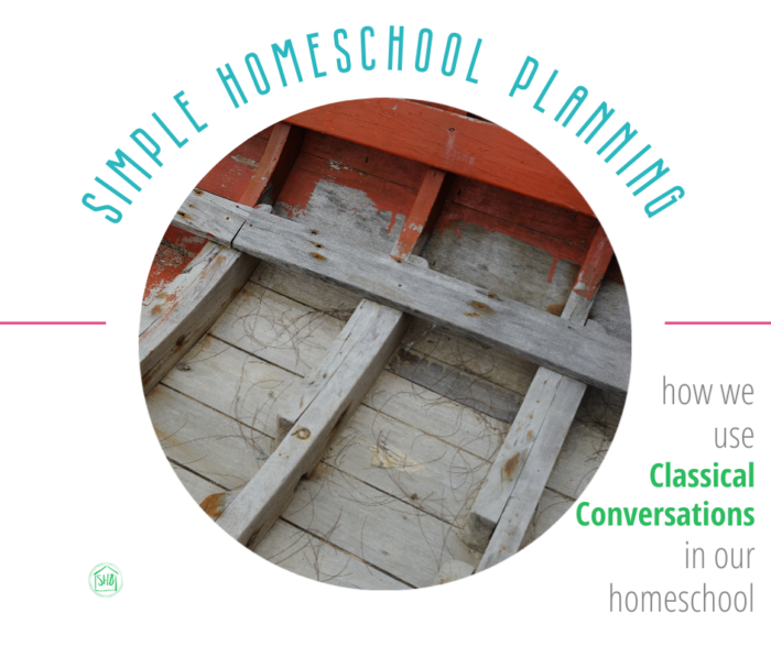 Simple homeschool planning - the pillars of our homeschool - how we use Classical Conversations in our homeschool.