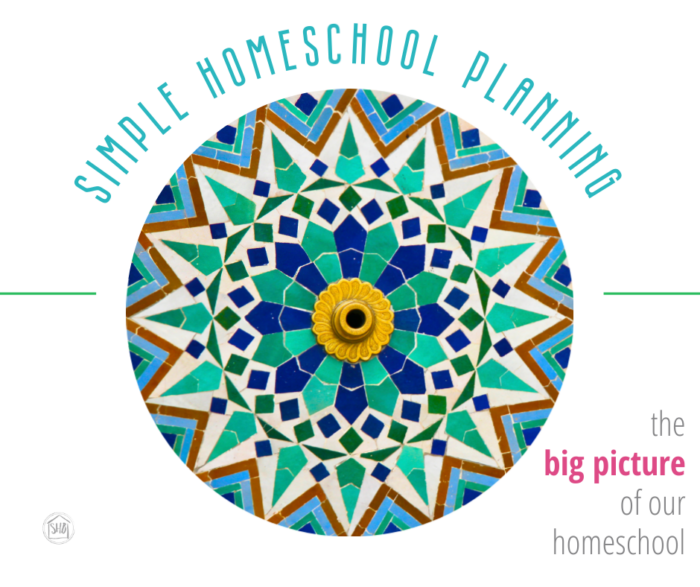big picture planning for our homeschool - planning the year at a glance