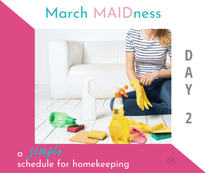 A simple routine schedule for homekeeping - a simple solution to the problem of missed cleaning spots - a bi-weekly cleaning schedule