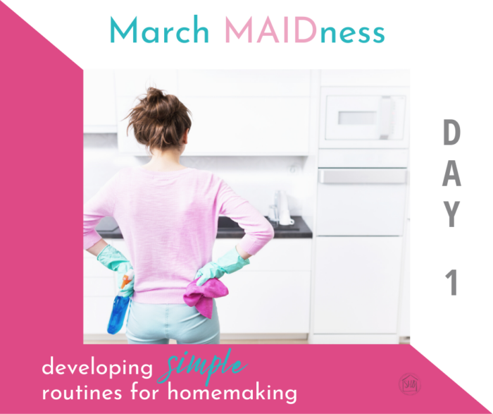 simple homemaking routines to help you run your household better - what one homemaker has found to work for her home - routines
