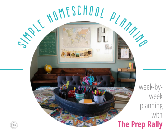 simple homeschool planning for each week with the Prep Rally - a weekly practice for homeschool mom's to evaluate how homeschool is going