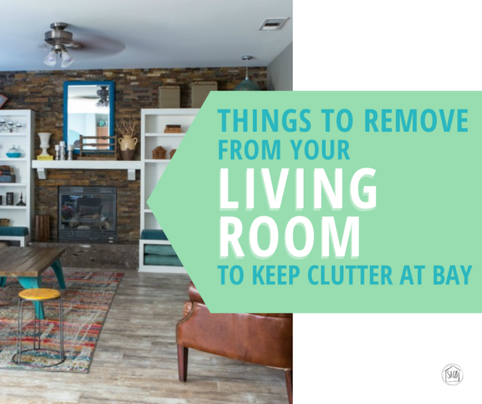 Keep your living room clear of clutter by banning these 4 items from. Simple solution to keep clutter at bay in your living room.