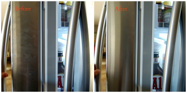 This is the THE BEST way to clean stainless steel.  Follow the simple directions for absolutely spotless, streak-less shine for your appliances