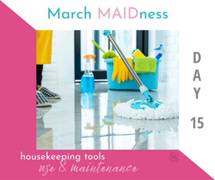 a simple guide to using and maintaining each housekeeping tool in your home.  includes guidelines for use, cleaning, storing, and replacing