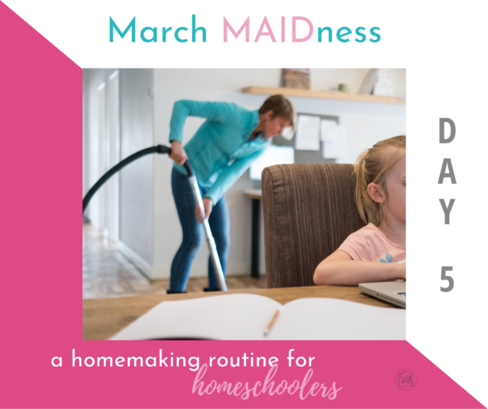 Homemaking routines for Homeschooling moms: a simple routine for homeschool moms to keep the house clean in the homeschool year