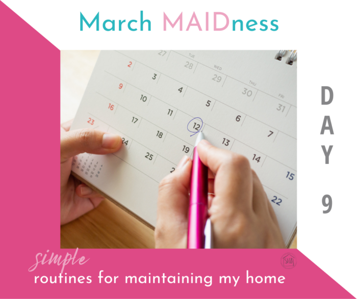 A simple plan for maintaining a maintenance schedule for quarterly and monthly chores in your home, resources and tips