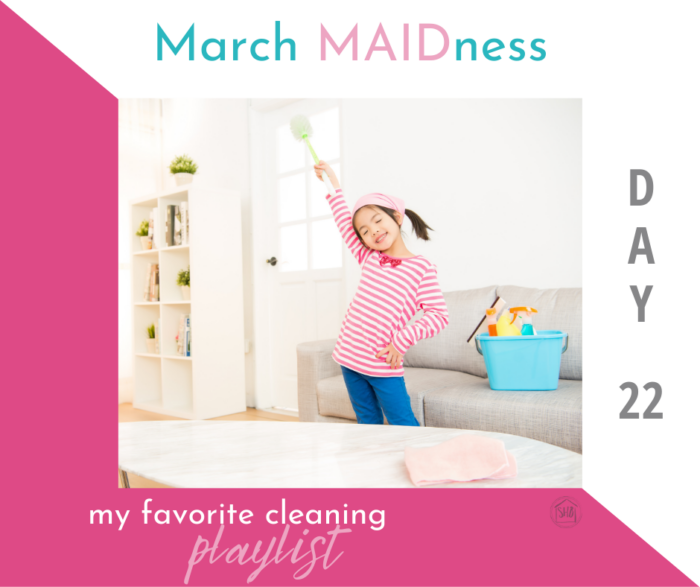 a simple 5+ hour cleaning playlist, music to motivate you to clean your house; also includes a selection of favorite podcasts/audiobooks