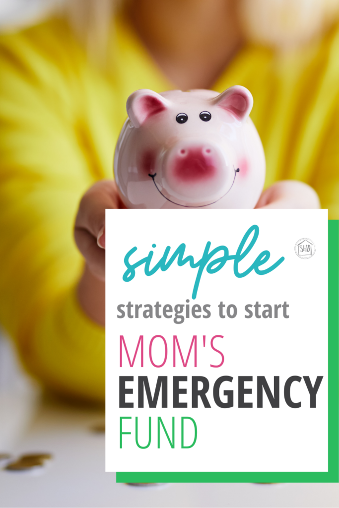 "even on a tight budget, these simple ideas for creating a ""Mom's Emergency Fund"" are doable - having a little something for a rainy day"