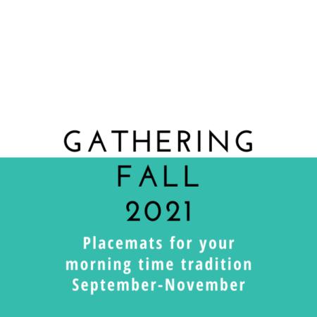 Gathering Placemats: Seasonal Set – Fall 2021