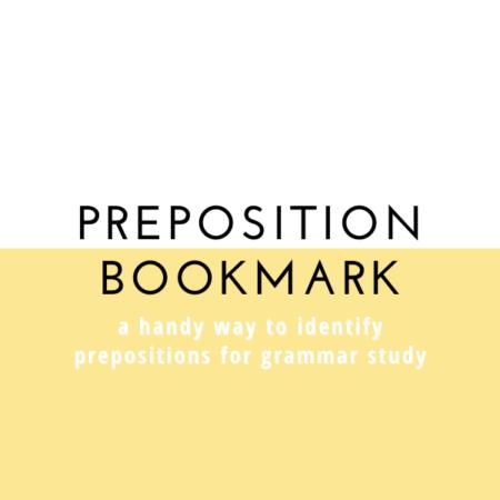 Preposition Bookmark