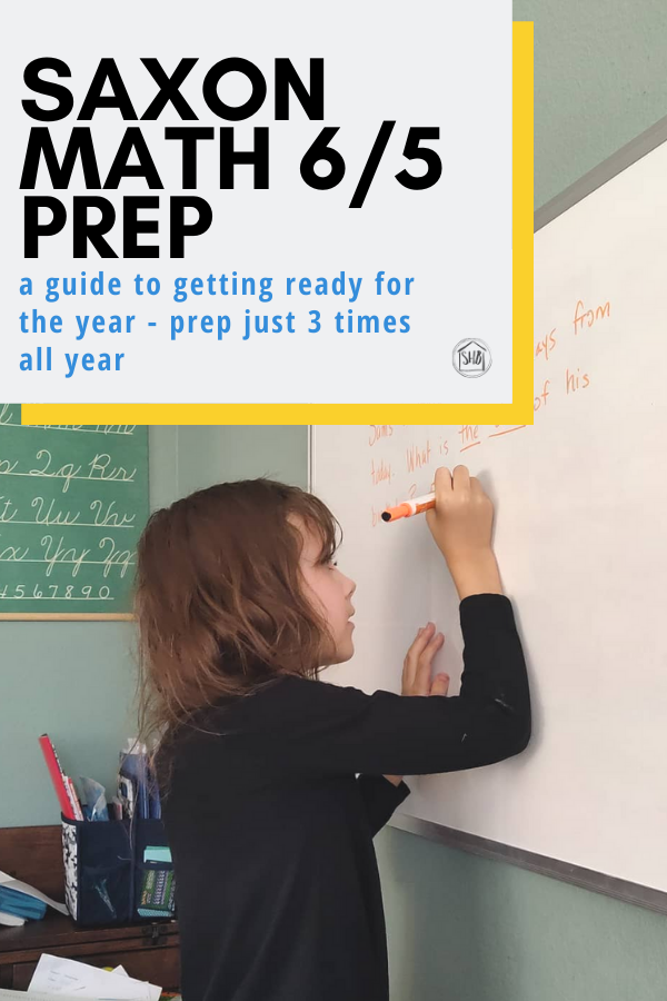 Preparing to teach Saxon Math 6/5 - a step by step tutorial with printable list of resources to copy from the Tests and Worksheets Manual