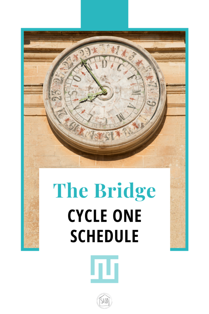 Schedule for the Bridge - a fully immersive curriculum to bridge the gap between Classical Conversations and Charlotte Mason (AO)