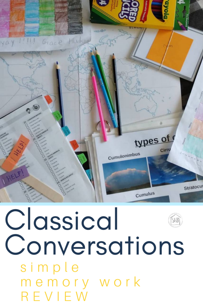 a simple approach to memory work review for Classical Conversations Foundations - any cycle, any year, any homeschool