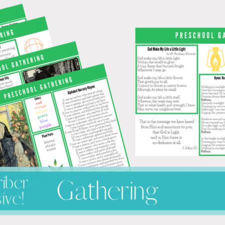 Free Preschool Gathering Placemats