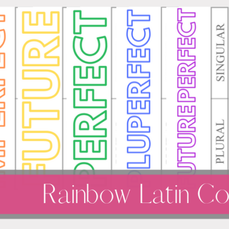 Rainbow Latin Conjugations