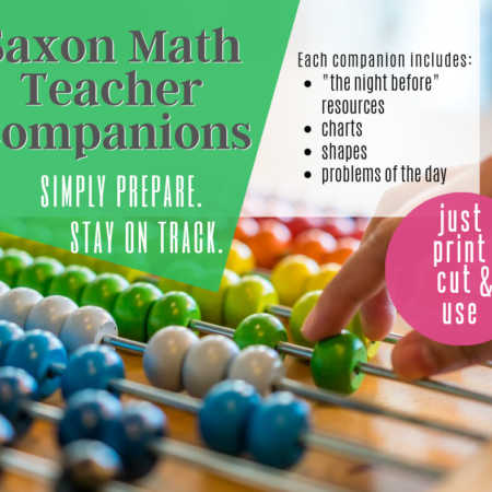Saxon Math Teacher Companions (K,1,2,3)