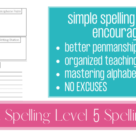 All About Spelling Sheets – Level 5
