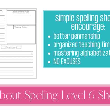 All About Spelling Sheets Level 6